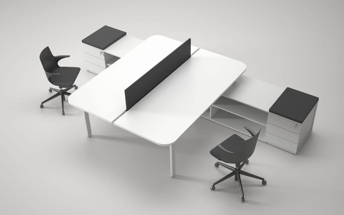 Postazioni operative modulari ideale per uffici e call for Dau srl design arredo ufficio