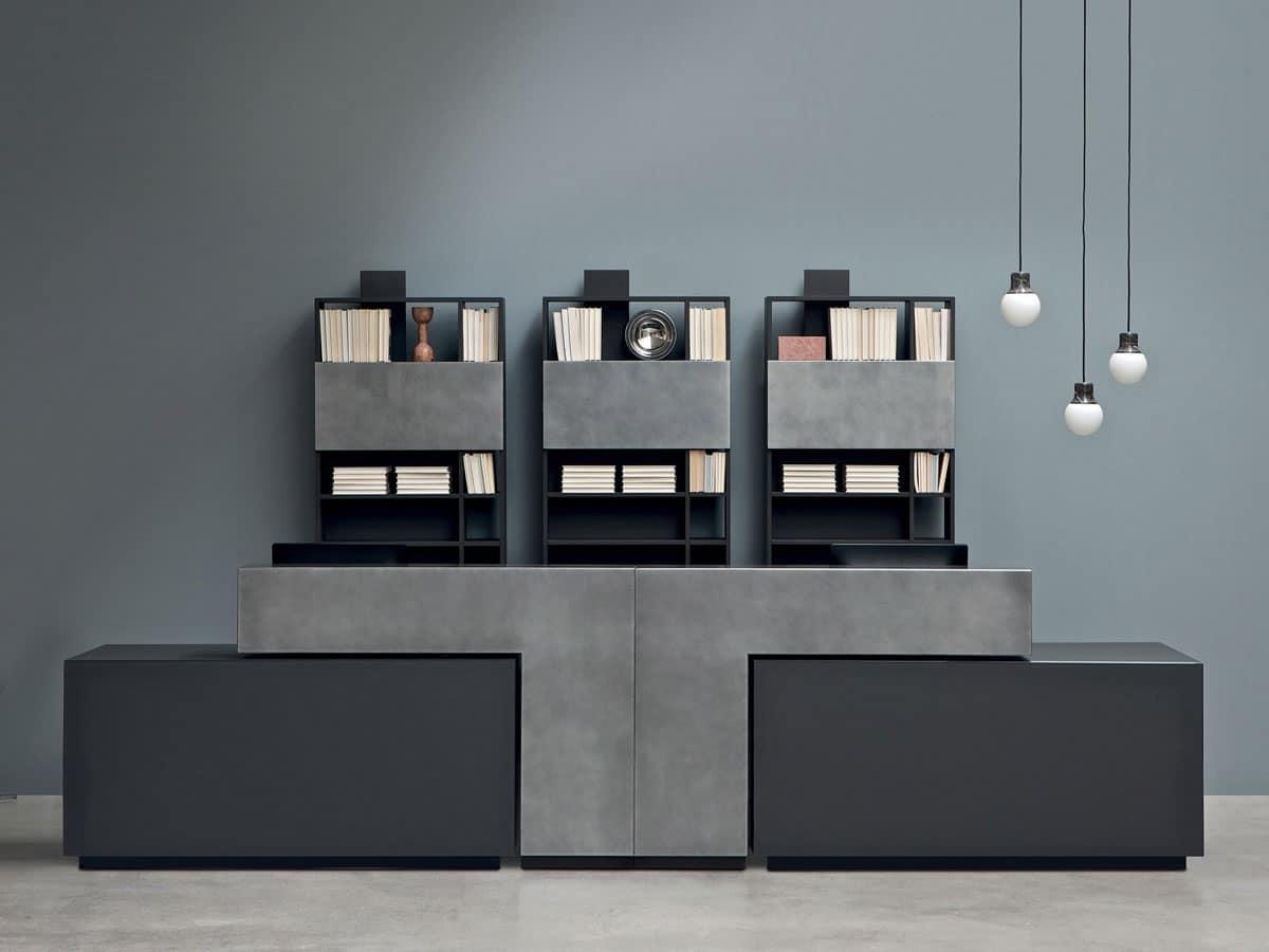 Bancone per reception mobili per ingressi ufficio idfdesign for Dau srl design arredo ufficio