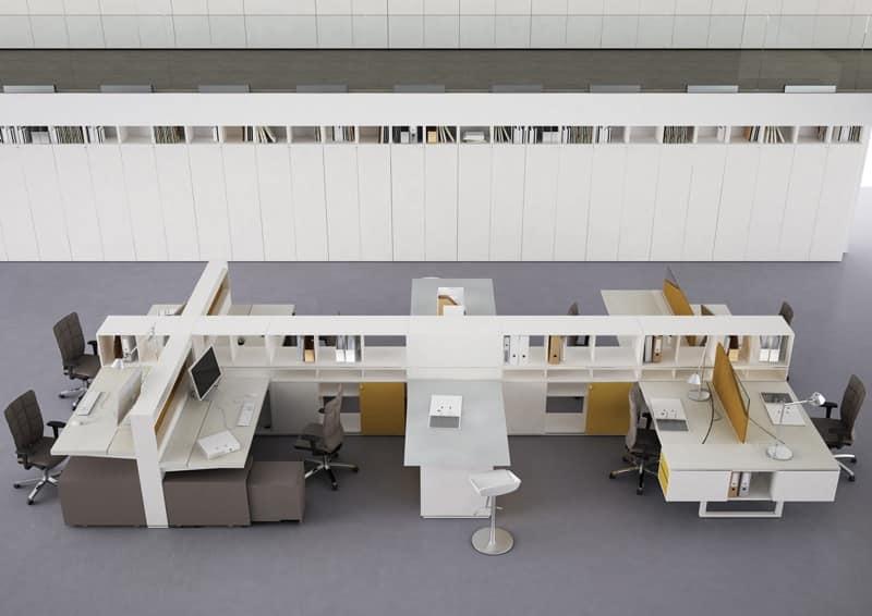 Mobili linea ufficio ufficio idfdesign for Mobili ufficio scrivania