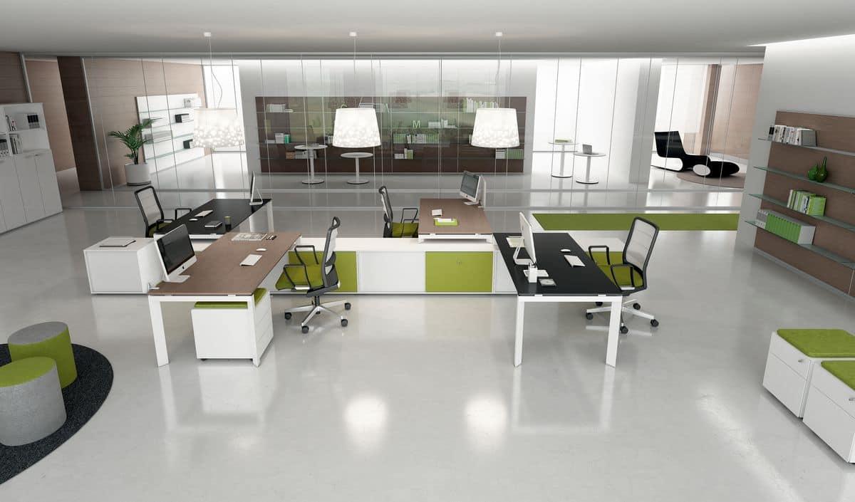 Tavoli operativi per uffici moderni idfdesign for Design ufficio