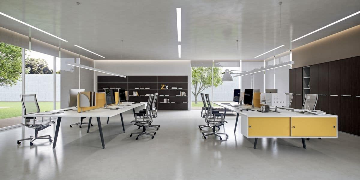 Dv804 e place 9 postazioni operative per uffici moderni for Uffici moderni