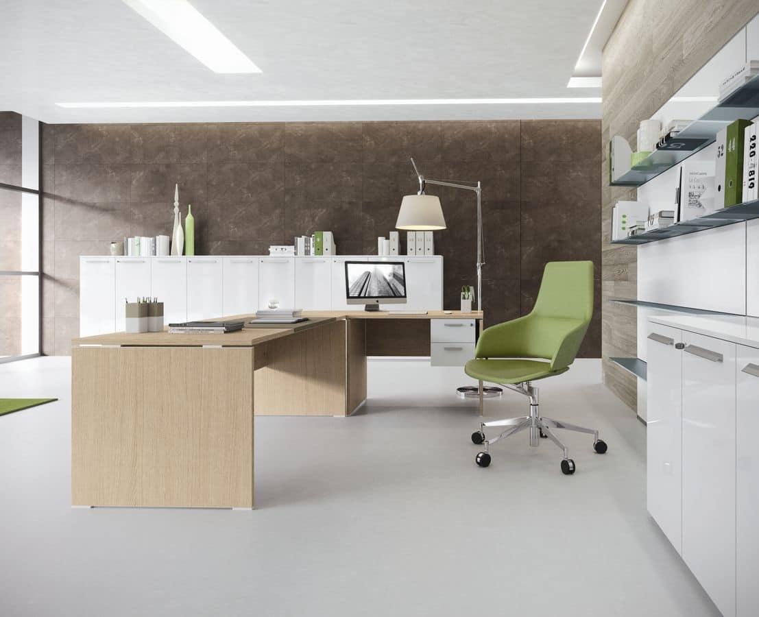 Arredo per ufficio moderno scrivania e tavolo ufficio for Design ufficio scrivania