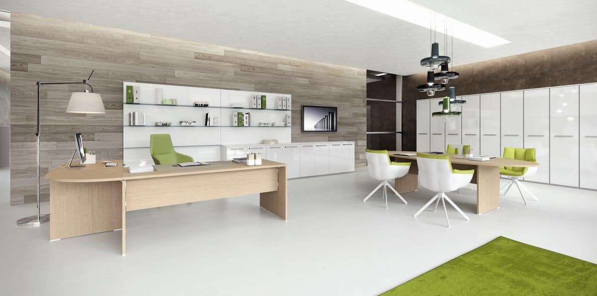 Arredo per ufficio moderno scrivania e tavolo ufficio - Arredo ufficio moderno ...