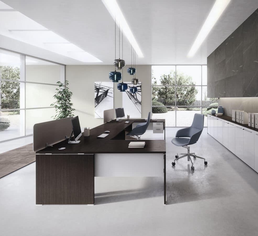Dv805 treko 6 tavoli in legno per ufficio arredo per - Tavoli per ufficio ...