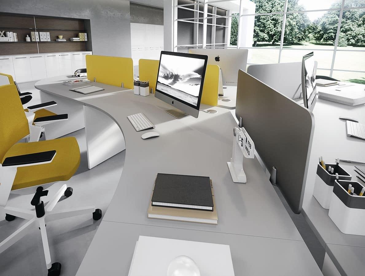 Sistema tavoli per uffici operativi tavoli moderni per - Tavoli per ufficio ...