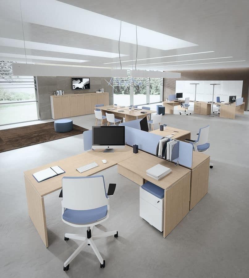 Dv805 treko 9 arredo per ufficio operativo scrivanie per for Arredo ufficio operativo