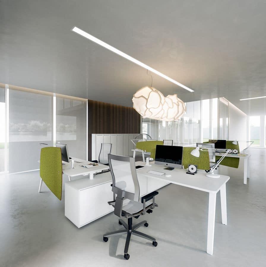 Dv804 e place 5 scrivania composta per uffici idfdesign for Della valentina office