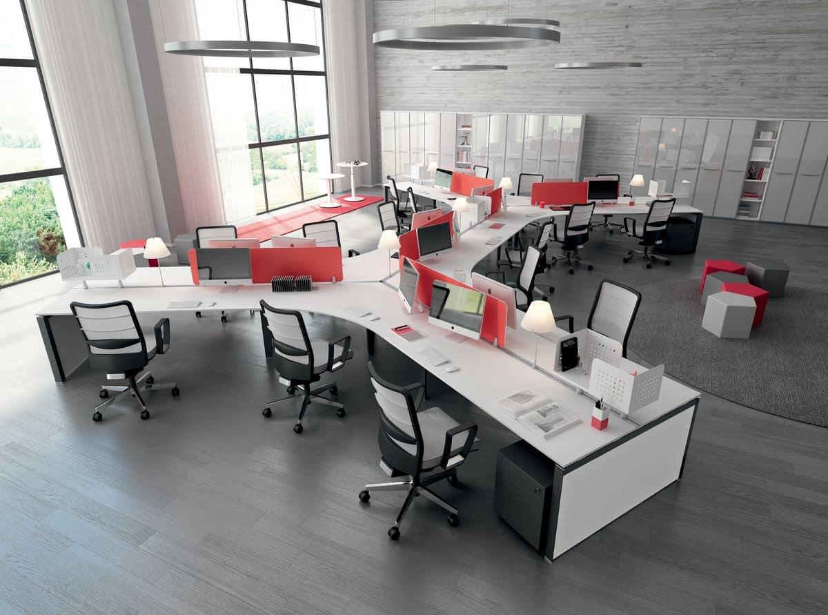 Scrivanie moderne angolo computer idfdesign for Scrivanie ufficio moderne