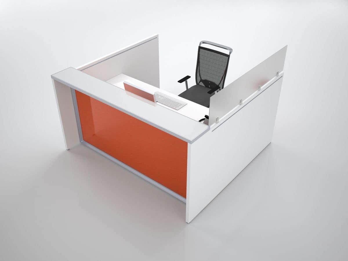Bacone reception adatto per ufficio moderno idfdesign for Mobile reception ufficio