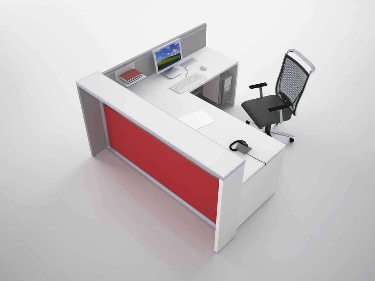 bancone reception ad angolo ideale per studio dentistico
