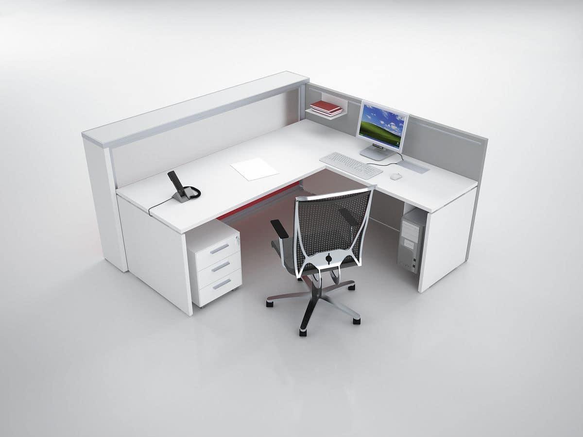 Bancone reception ad angolo ideale per studio dentistico for Reception per ufficio