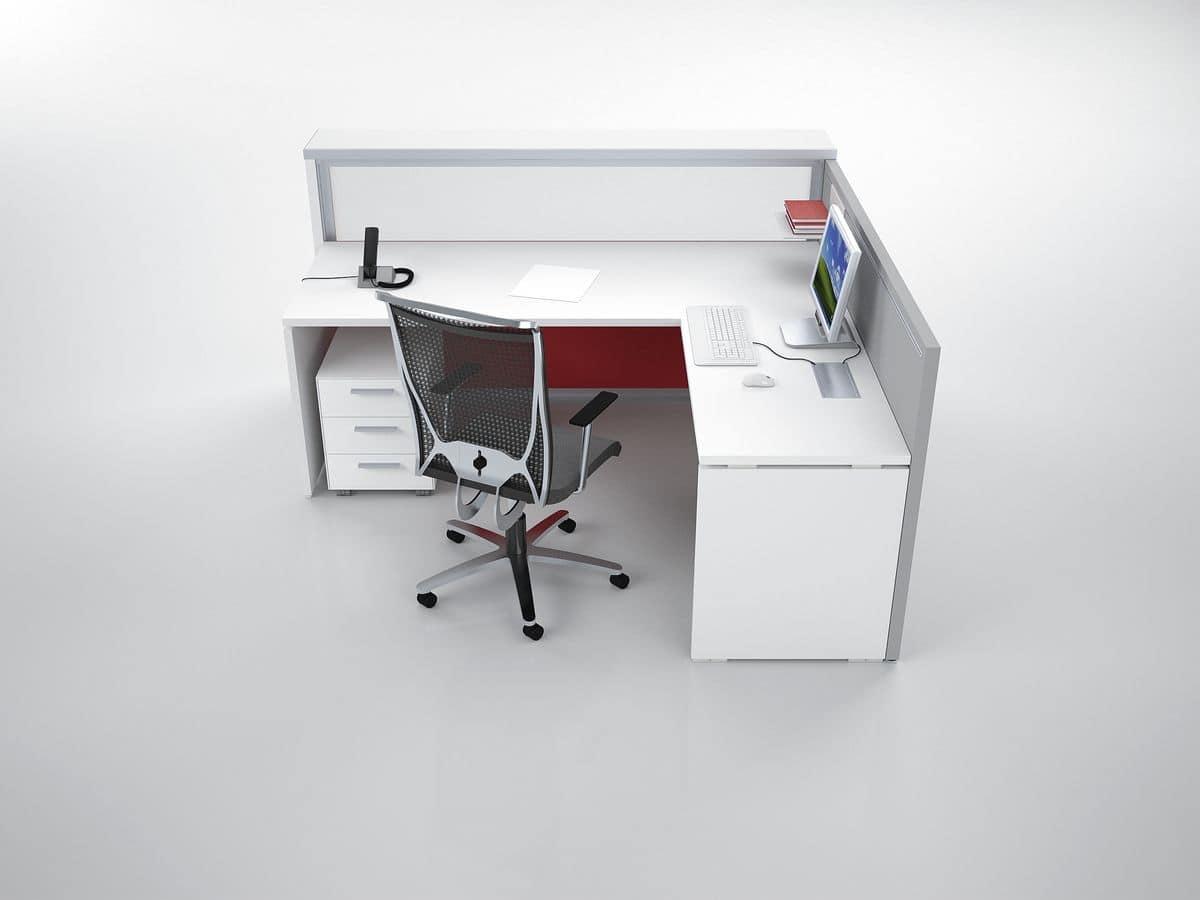 Bancone reception ad angolo ideale per studio dentistico for Bancone con angolo