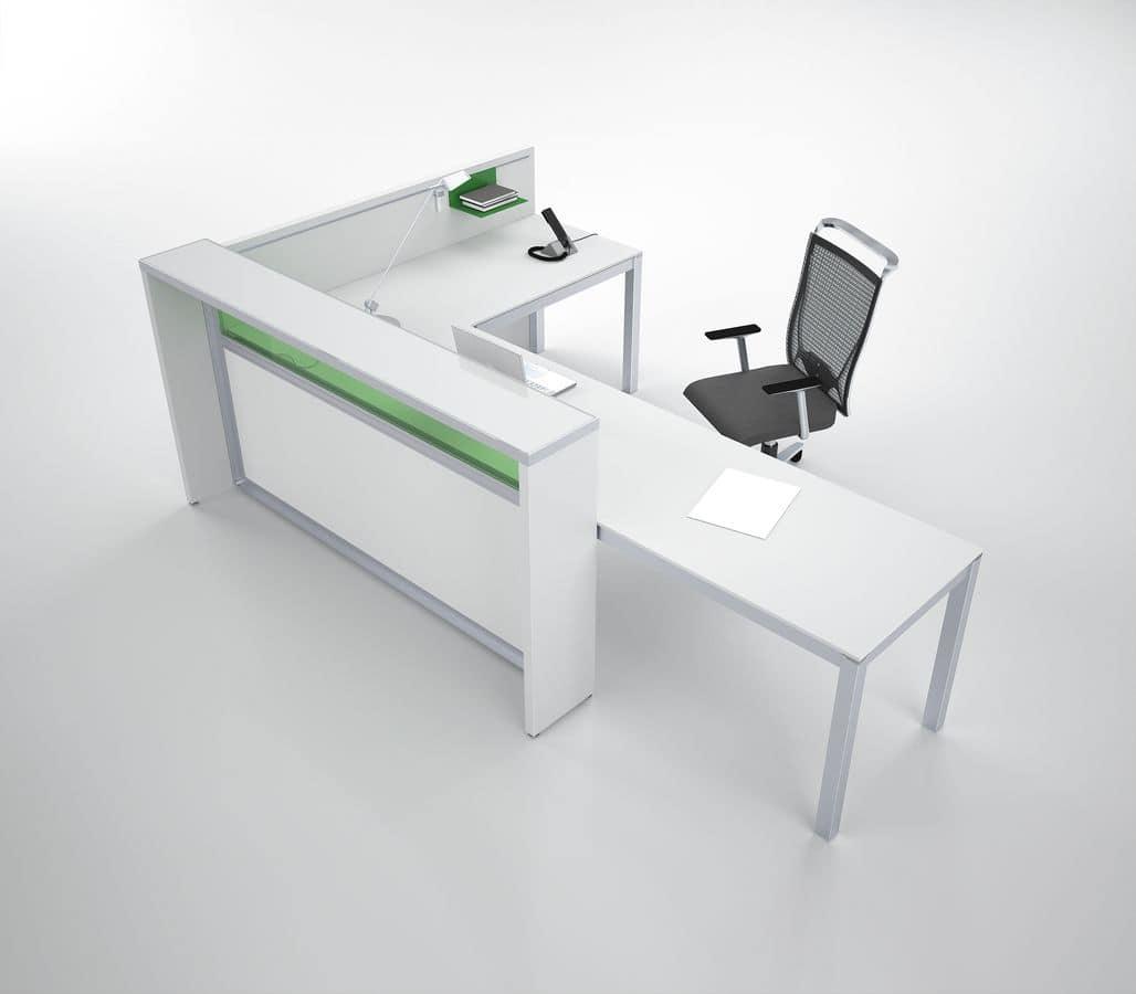 Bancone reception per studio medico idfdesign for Reception ufficio