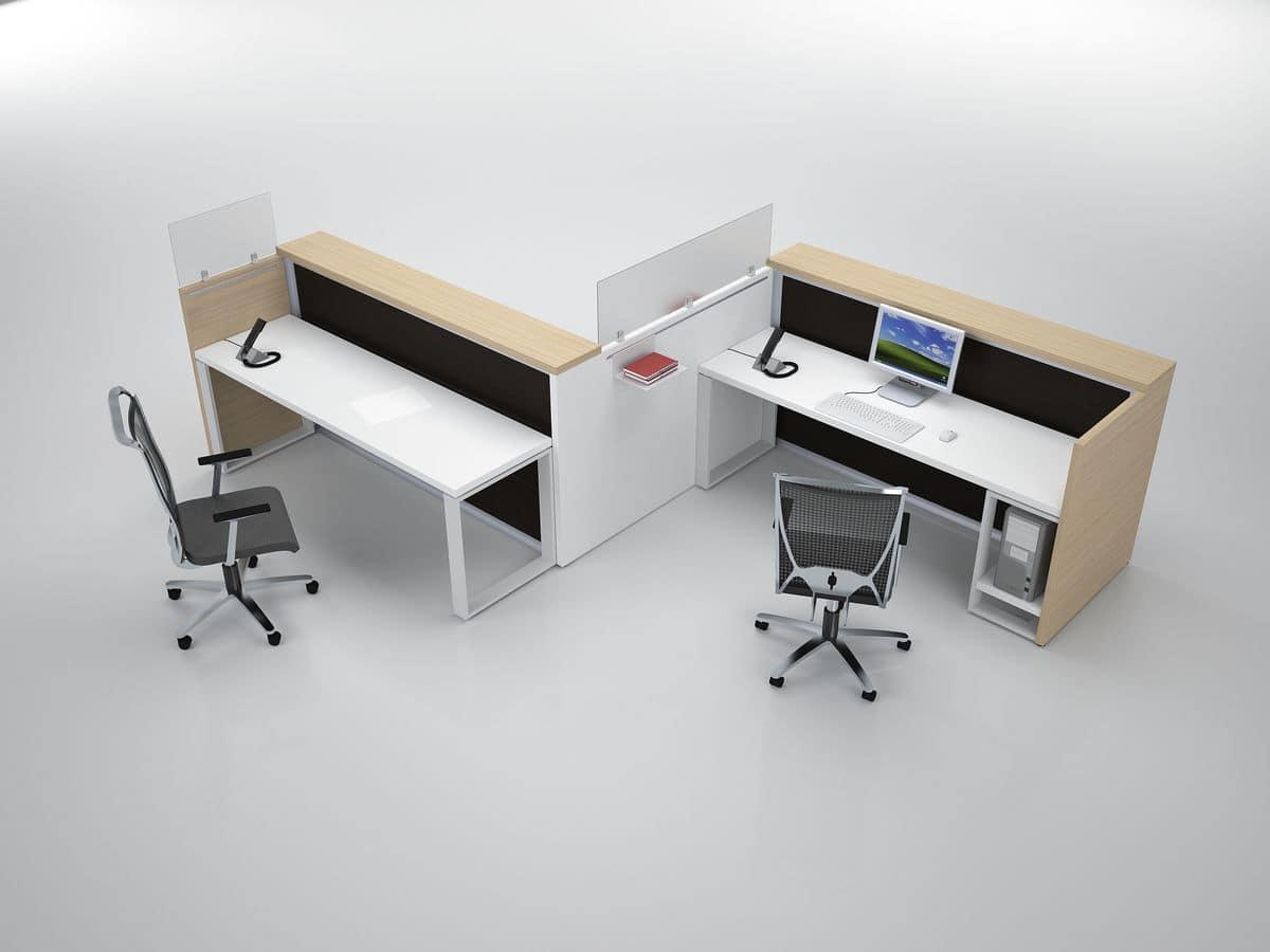 Bancone modulare per reception varie finiture moderno for Bancone reception ufficio
