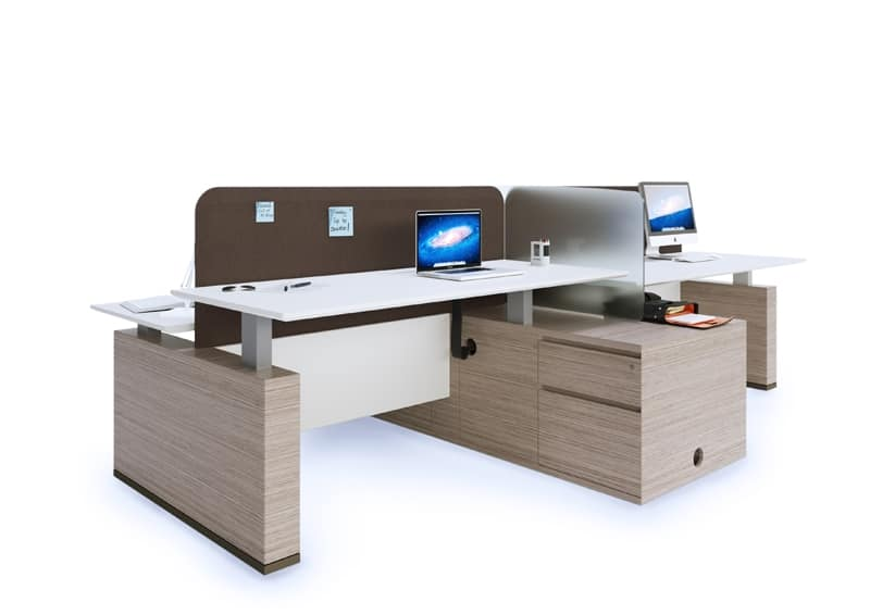 Sistemi per ufficio moderni dotati di vari accessori for Accessori design ufficio