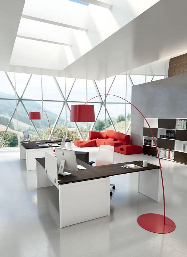 Dv802 3 scrivania modulare uffici idfdesign for Uffici di design