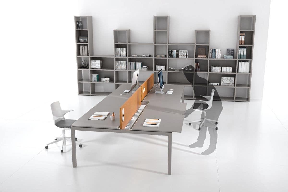 Italo Comp.2 Tavoli Operativi Per Uffici Moderni Gambe A Ponte #976234 1200 800 Ikea Carugate Tavoli Da Cucina