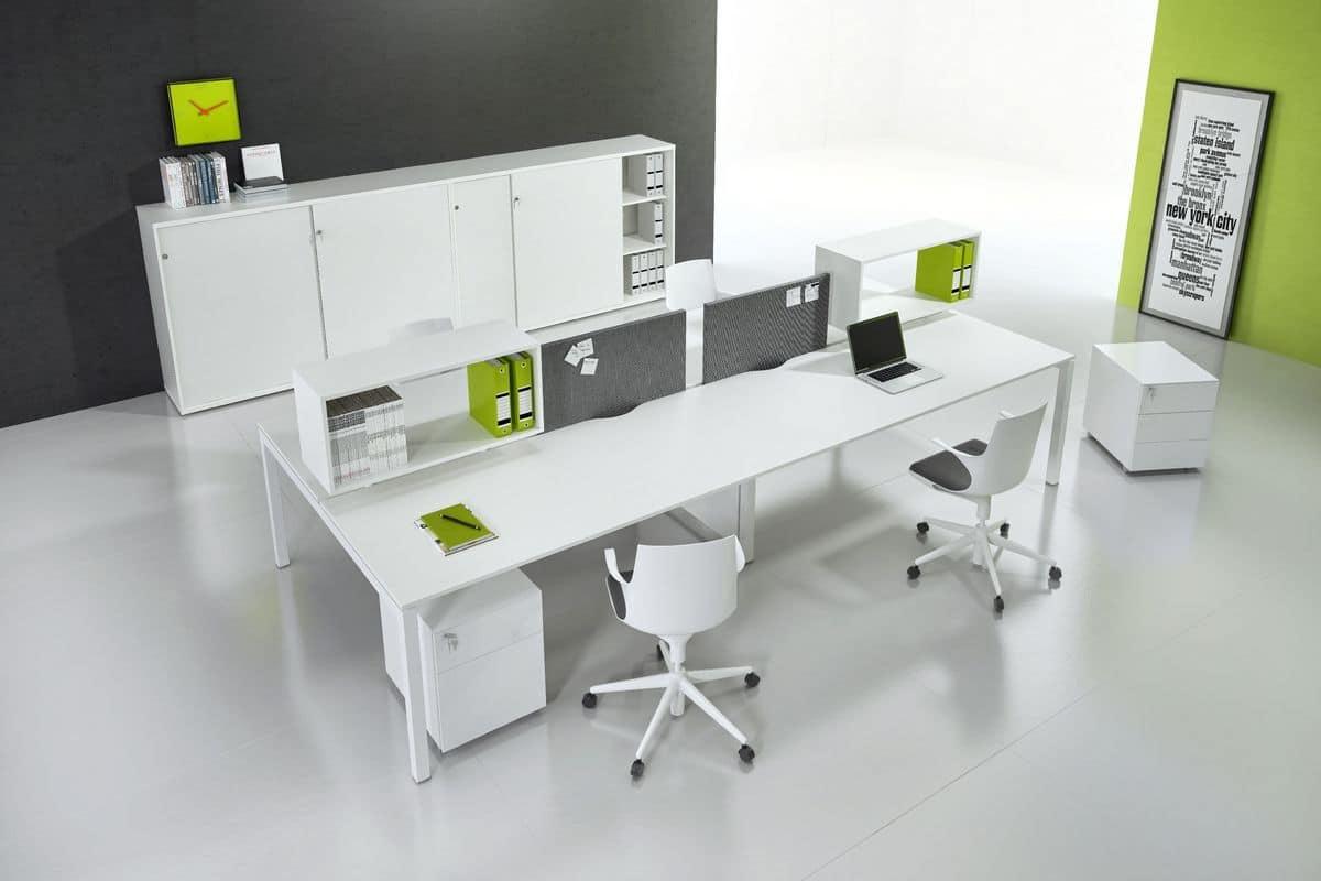 Arredo moderno per ufficio operativo idfdesign for Aziende mobili per ufficio