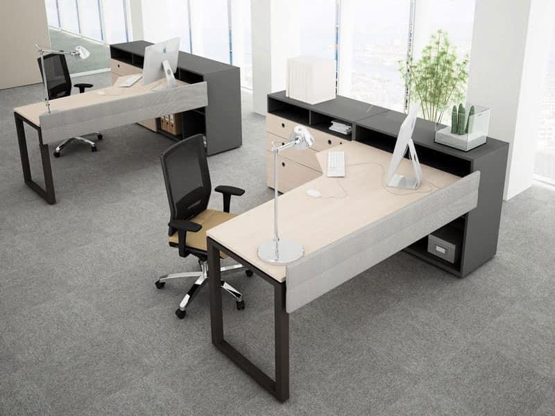 Scrivania componibile per uffici operativi idfdesign for Scrivania componibile