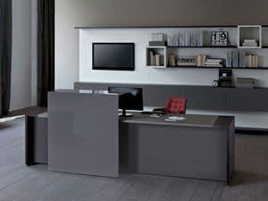 Loop In bancone reception, Contenitori e banconi per reception, Arredo per ingresso ufficio
