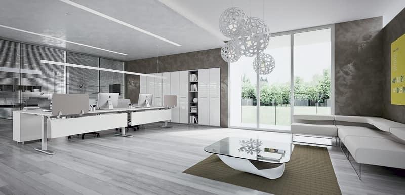 Sistema modulare ufficio studio idfdesign for Mobili ufficio moderni