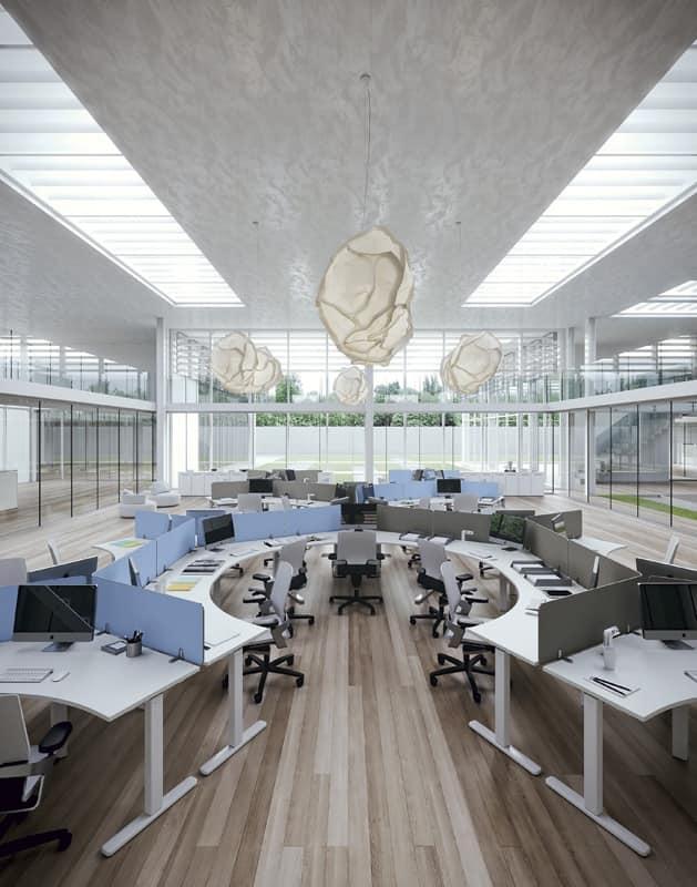 Soluzioni arredo per ufficio open space idfdesign for Arredamento completo ufficio