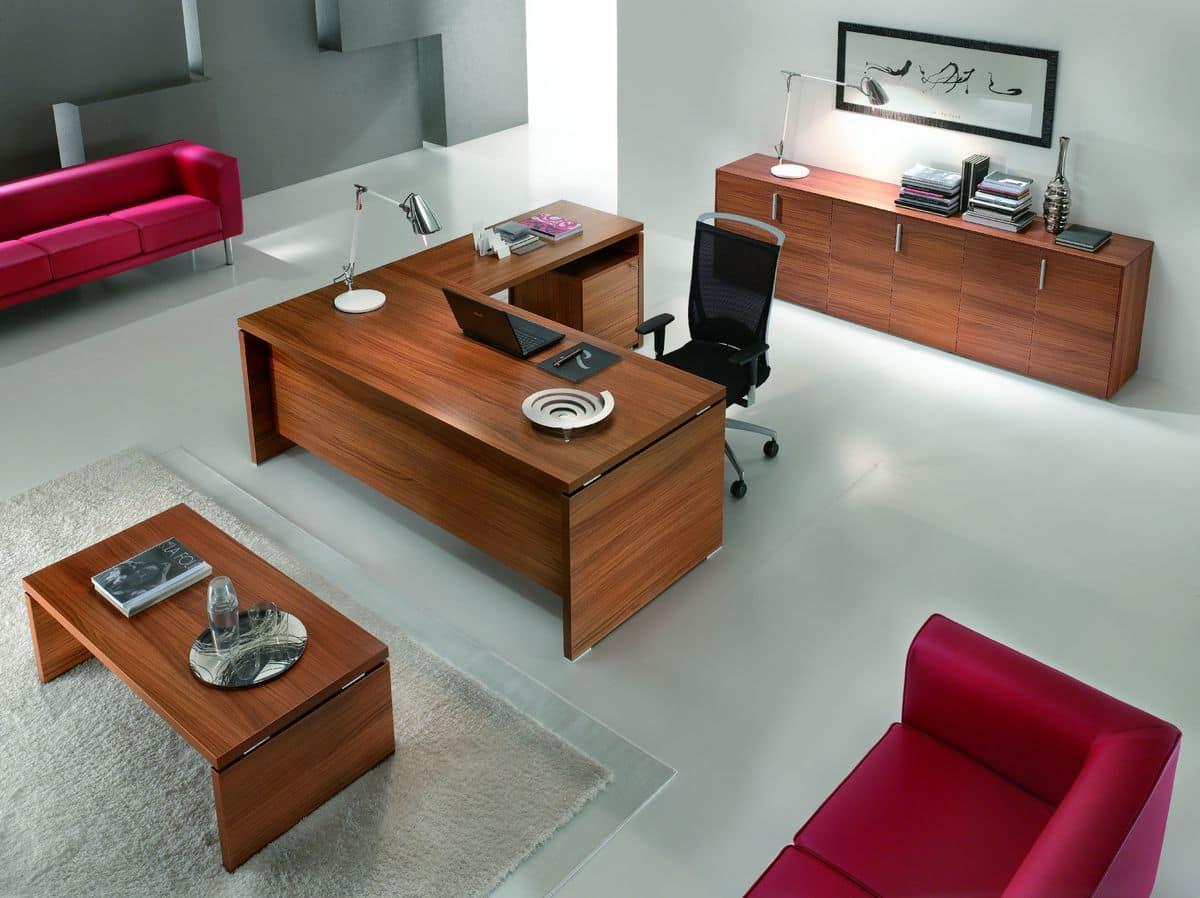 Arredamento Per Ufficio Moderno : Arredo elegante per ufficio direzionale stile moderno idfdesign