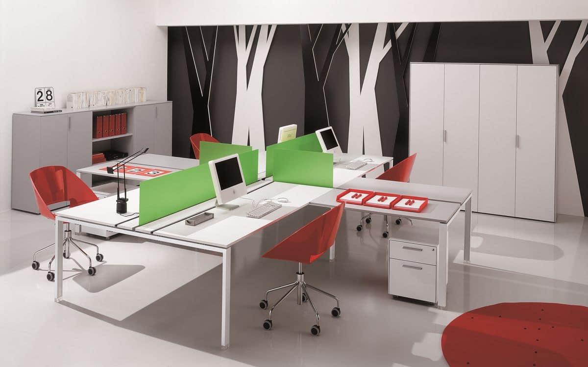 Sistema modulare di arredo per ufficio idfdesign for Complementi di arredo per ufficio