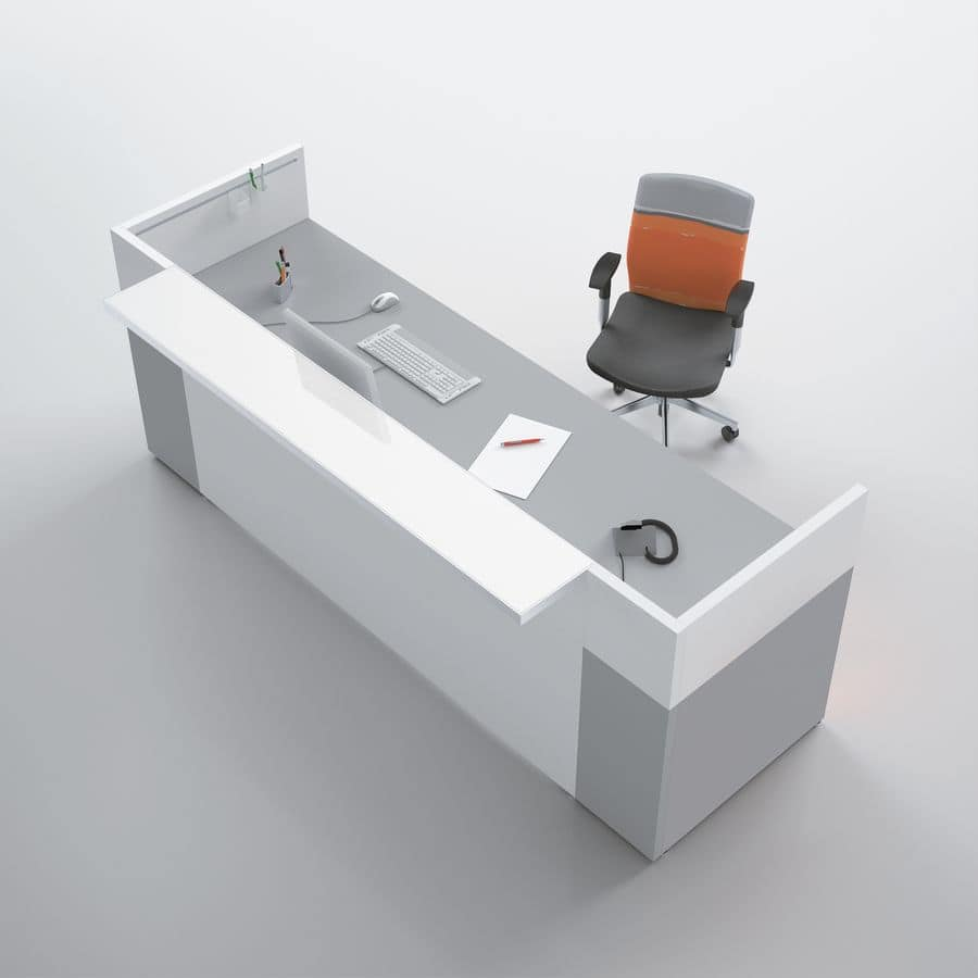bancone reception adatto per studi dentistici idfdesign