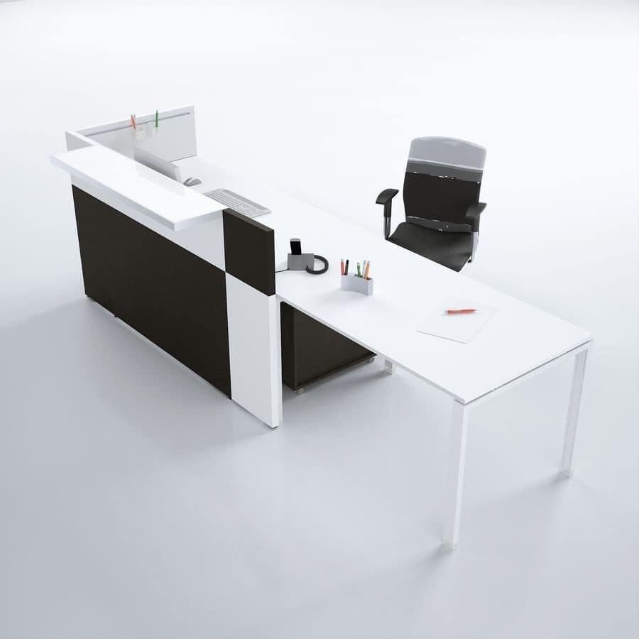 Bancone reception moderno ideale per uffici idfdesign for Reception da ufficio