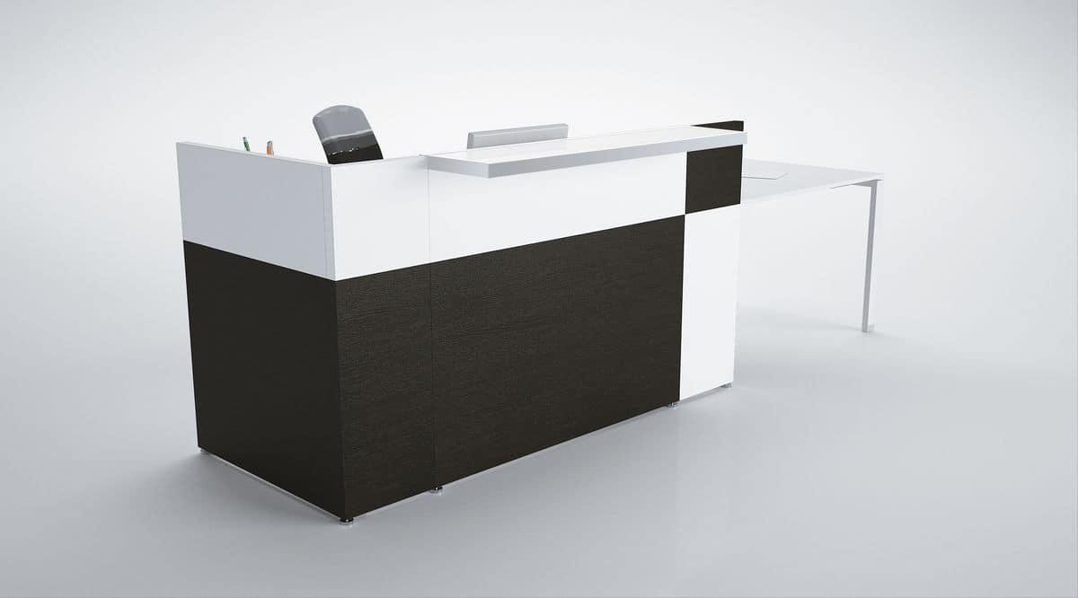 Bancone reception moderno ideale per uffici idfdesign for Bancone ufficio