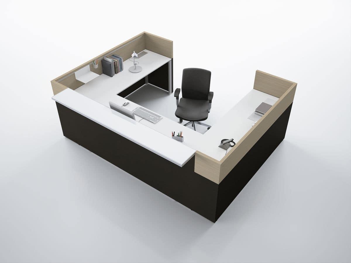 Reception moderna ideale per ufficio idfdesign for Reception per ufficio