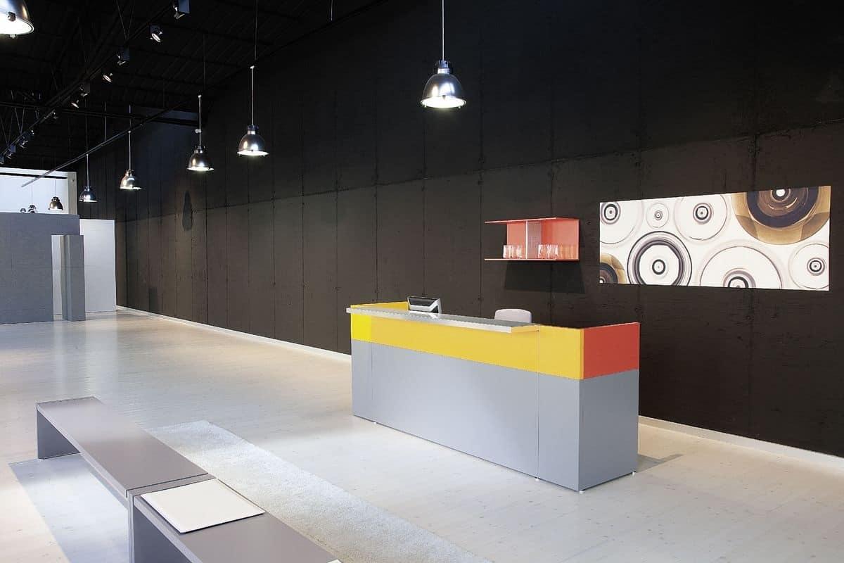 Reception Ufficio Legno : Reception modulare in legno moderna in varie finiture idfdesign