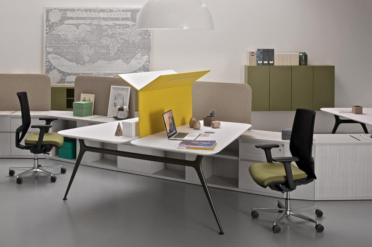 Sistema di contenitori e scrivanie per ufficio idfdesign for Scrivanie per ufficio