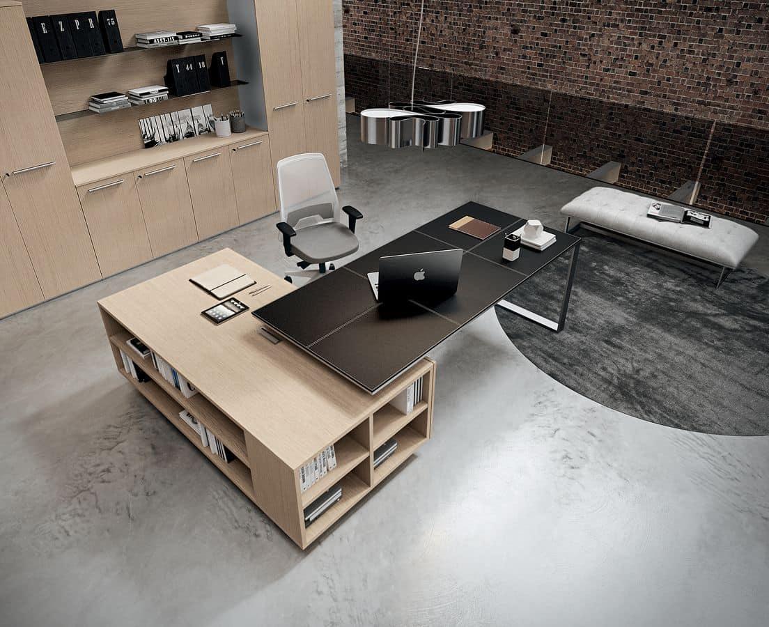 Tavoli ufficio esecutivo moderno idfdesign for Acheter un bureau
