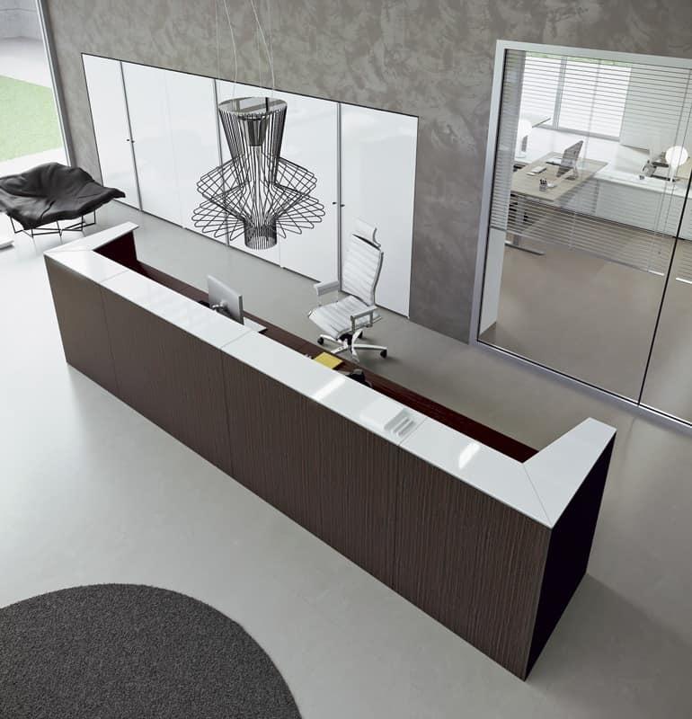 Ampio bancone bancone reception modulare bancone moderno for Reception scrivania