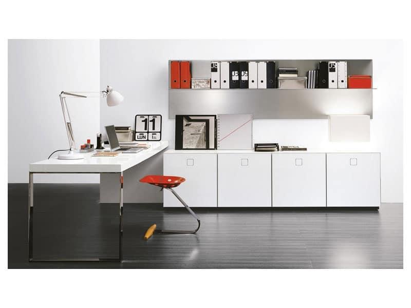 SEVENTY DAY comp.08 office, Sistema modulare per ufficio, vari elementi e finiture