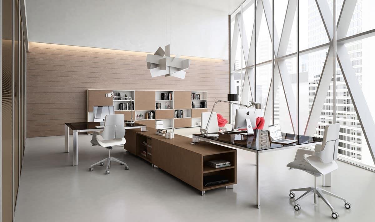 Sistemi ufficio moderni postazione operativa idfdesign for Catalogo design di mobili per ufficio