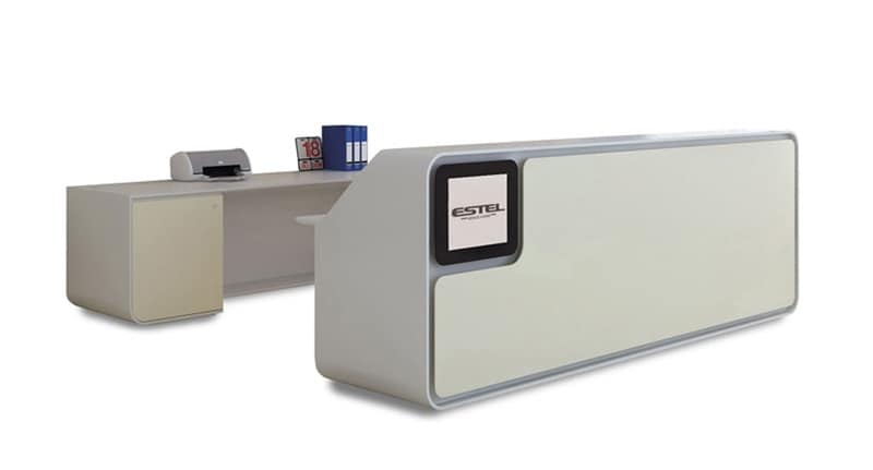 Bancone reception per uffici moderni e centri estetici for Reception per ufficio