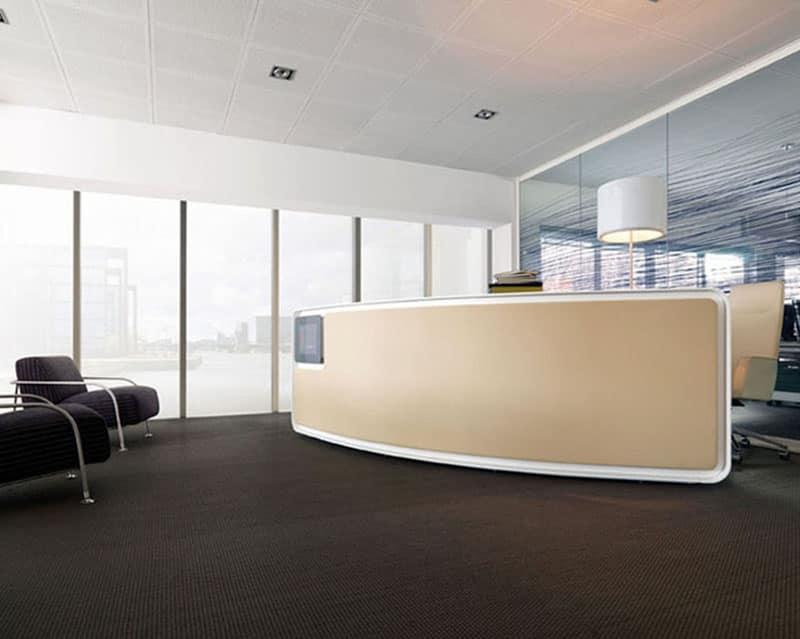 Bancone reception per uffici moderni e centri estetici for Uffici moderni