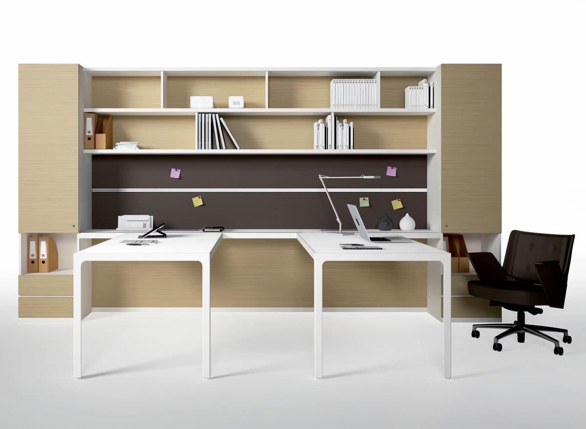 Pareti attrezzate per ufficio con mobili contenitori for Mobili contenitori ufficio
