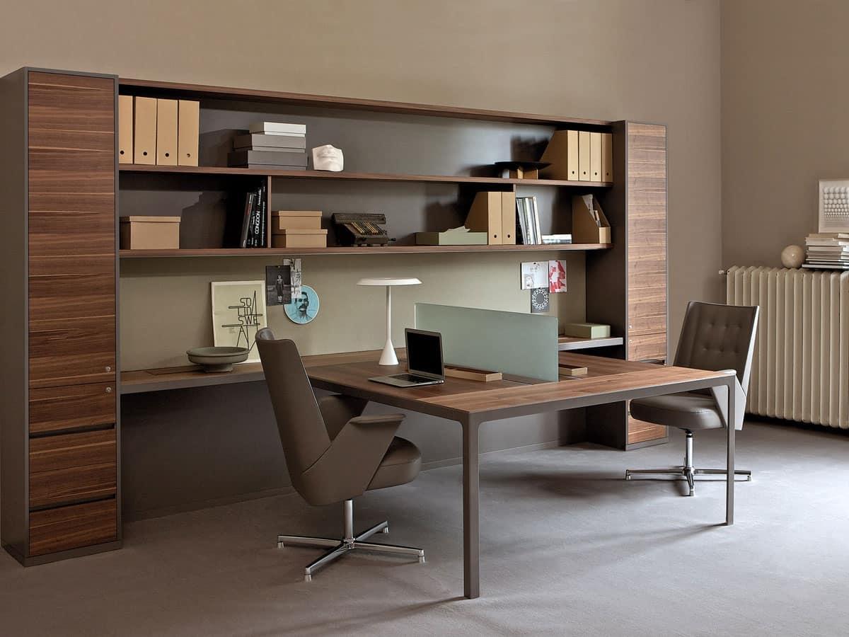 Pareti attrezzate per ufficio con mobili contenitori for Office design arredo ufficio