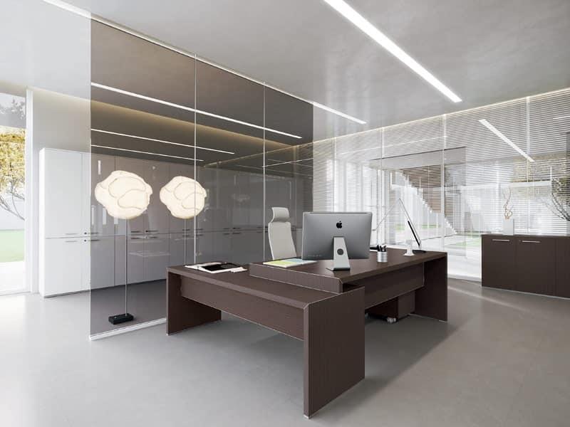 Dv904 york 2 scrivanie e cassettiere ufficio uffici for Cassettiere ufficio design