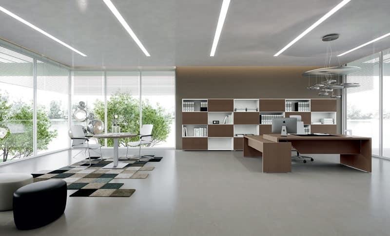Sistemi ufficio moderni stazione operativa idfdesign for Design stanza ufficio