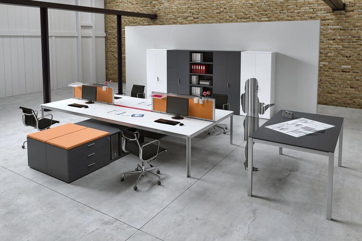 Tavoli operativi moderni per ufficio idfdesign - Tavoli per ufficio ...