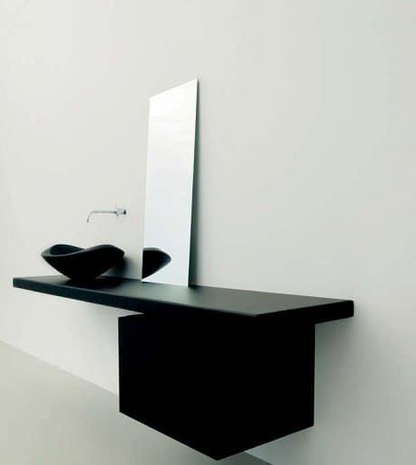Specchio rettangolare essenziale per bagni moderni idfdesign - Specchi da bagno design ...