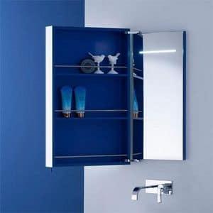 Base monoblocco per bagno con anta scorrevole idfdesign - Specchio contenitore per bagno ...
