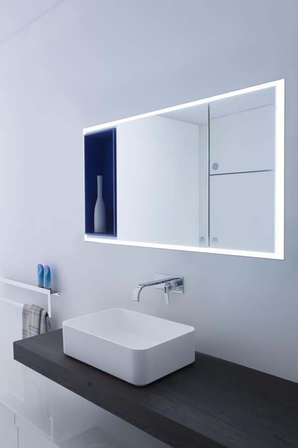 Pensile Specchio Contenitore Per Bagno.Pratico Specchio Contenitore Per Bagno Idfdesign