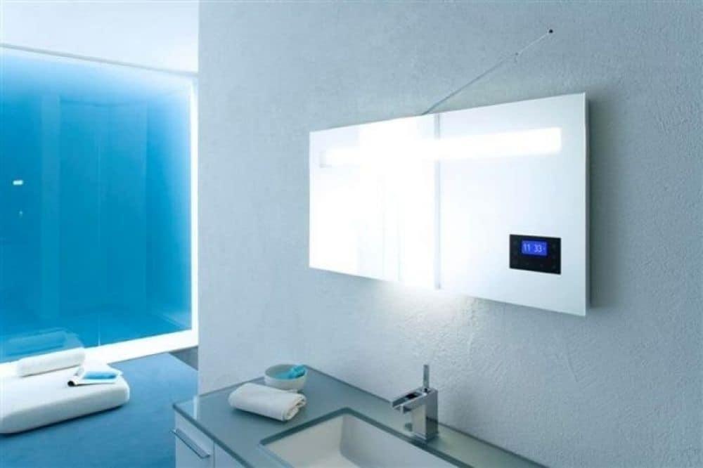 Specchio con radio incorporata idfdesign - Specchio per bagno moderno ...