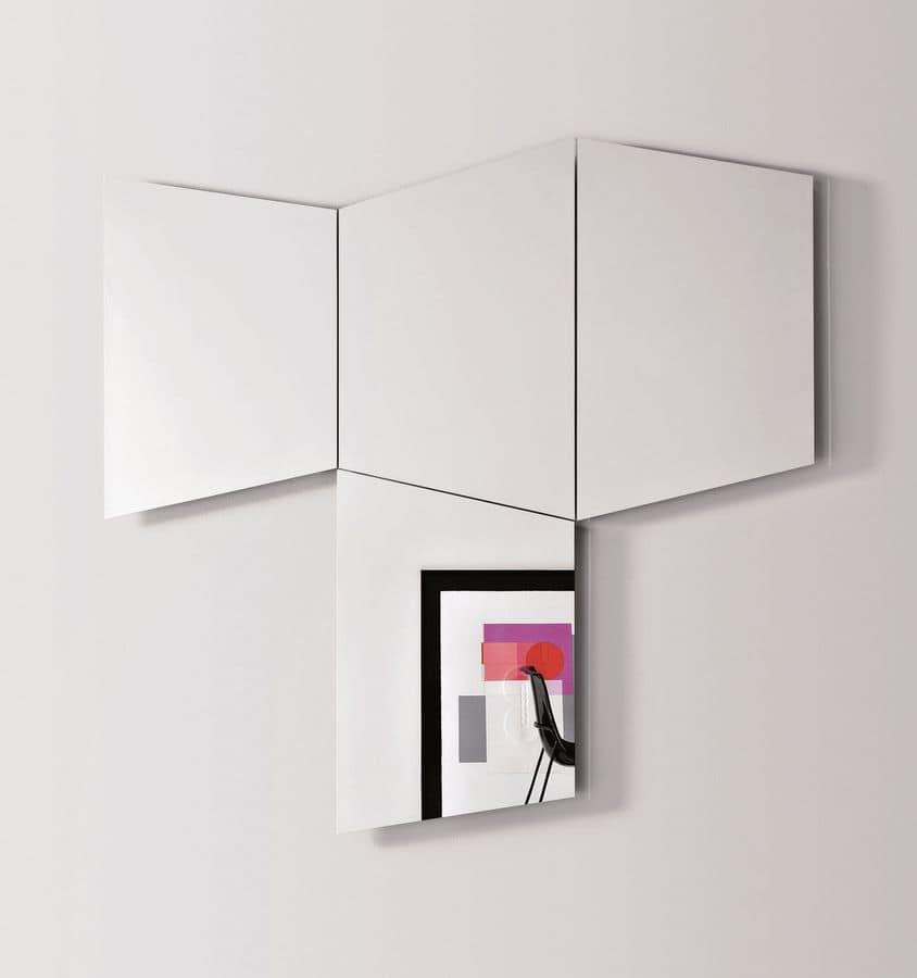 Specchi trapezoidali da parete con luce a led integrabile - Specchi da parete amazon ...